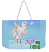 Chick And  Water Lily Weekender Tote Bag