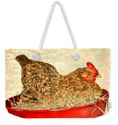 Chicken Hen Painting Art Print Weekender Tote Bag