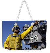 Chief Aviation Boatswains Mate Directs Weekender Tote Bag by Stocktrek Images