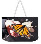 Child With Butterfly Weekender Tote Bag