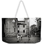 Children At Play In A Venice Piazza Weekender Tote Bag