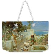 Children By The Mediterranean  Weekender Tote Bag
