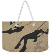 Children Cast Body Shadows In The Sand Weekender Tote Bag