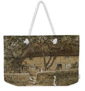 Children Outside A Cottage Weekender Tote Bag