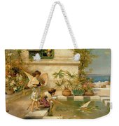 Children Playing With Boats Weekender Tote Bag