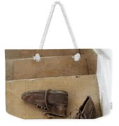 Child's Shoes By Stairs Weekender Tote Bag