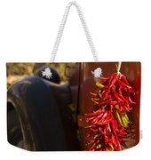 Chile Hang From The Door Of An Old Weekender Tote Bag