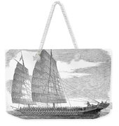 China: Junk, 1857 Weekender Tote Bag