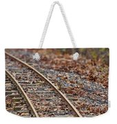 Chipmunk On The Railroad Track Weekender Tote Bag
