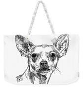 Chiwawa-portrait-drawing Weekender Tote Bag