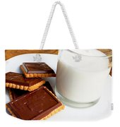 Chocolate Coated Butter Cookies And Milk Weekender Tote Bag