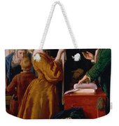 Choosing The Wedding Gown From Chapter 1 Of 'the Vicar Of Wakefield' Weekender Tote Bag