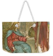 Christ And The Woman Of Samaria Weekender Tote Bag by John Lawson