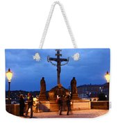 Christ Crucifixion Sculpture Weekender Tote Bag