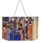 Christ Exorcising A Demon From A Possessed Youth: Illumination From The 15th Century Ms. Of The Tres Riches Heures Of Jean, Duke Of Berry Weekender Tote Bag
