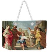 Christ Preaching In The Temple Weekender Tote Bag