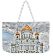Christ The Saviour Cathedral In Moscow. The Main Entrance Weekender Tote Bag