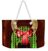 Christmas Card Wreath Color Weekender Tote Bag
