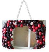 Christmas Cherry Wreath Weekender Tote Bag