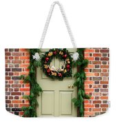 Christmas Door Weekender Tote Bag