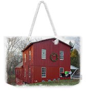 Christmas Eve At Williston Mill Weekender Tote Bag