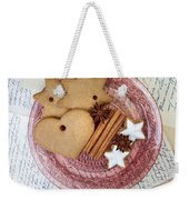 Christmas Gingerbread Weekender Tote Bag