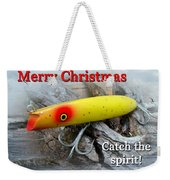 Christmas Greeting Card - Gibbs Darter Vintage Fishing Lure Weekender Tote Bag