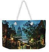 Christmas Lights Down Dauphin Street Weekender Tote Bag
