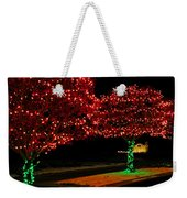 Christmas Lights Red And Green Weekender Tote Bag