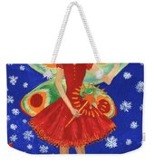Christmas Pudding Fairy Weekender Tote Bag
