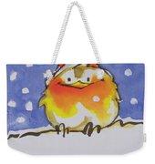Christmas Robin Weekender Tote Bag