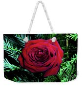 Christmas Rose Weekender Tote Bag by Mariola Bitner
