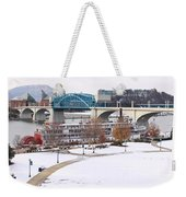 Christmas Snow Weekender Tote Bag by Tom and Pat Cory