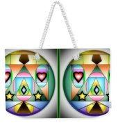Christmas Tree - Gently Cross Your Eyes And Focus On The Middle Image Weekender Tote Bag
