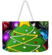 Christmas Tree Cookie With Ornaments Weekender Tote Bag