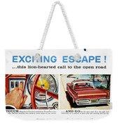 Chrysler Ad, 1959 Weekender Tote Bag