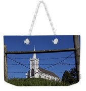 Church And Barbed Wire Weekender Tote Bag