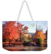 Church In Autumn Weekender Tote Bag
