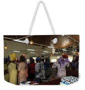 Church Service In Nigeria Weekender Tote Bag