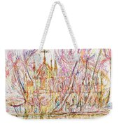 Church With Palm Trees Weekender Tote Bag