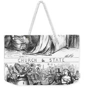 Church/state Cartoon, 1870 Weekender Tote Bag
