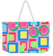 Circles And Squares Weekender Tote Bag