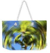 Circular Palm Blur Weekender Tote Bag