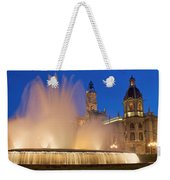 City Hall And Fountain At Dusk Weekender Tote Bag