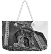 City Hall Window In Black And White Weekender Tote Bag
