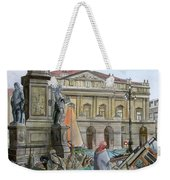 City Of Milan In Italy Under Water Weekender Tote Bag