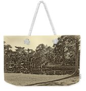 City Park Lagoon Sepia Weekender Tote Bag