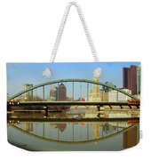 City Reflections Through A Bridge Weekender Tote Bag