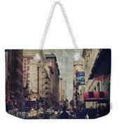 City Sidewalks Weekender Tote Bag