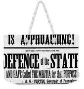 Civil War: Lees Campaign Weekender Tote Bag